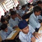 GMSSS 44 Chandigarh students taking Level 1 MAT on 6 August 2010